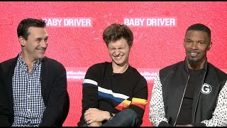 Video Jamie Foxx does Quincy Jones impression during BABY DRIVER interview with Jon Hamm and Ansel Elgort MP3, 3GP, MP4, WEBM, AVI, FLV Oktober 2018
