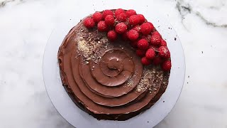 No-Bake Chocolate Pudding Cake by Tasty