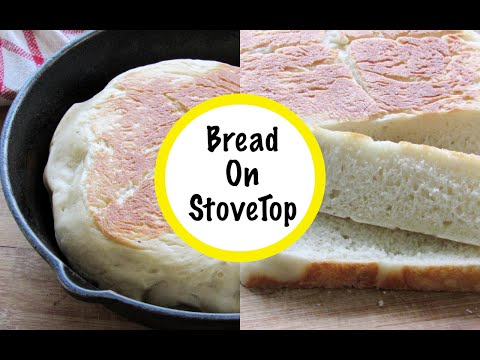 How To Make Bread On Gas Stove Top - Bake Bread In Cast Iron Skillet/Tawa/Pan- No Oven | Nisa Homey