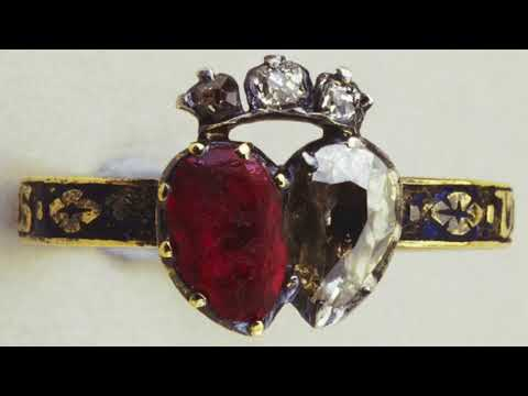 Queen Victoria's Diamond & Ruby Ring Inscribed 'United Forever'