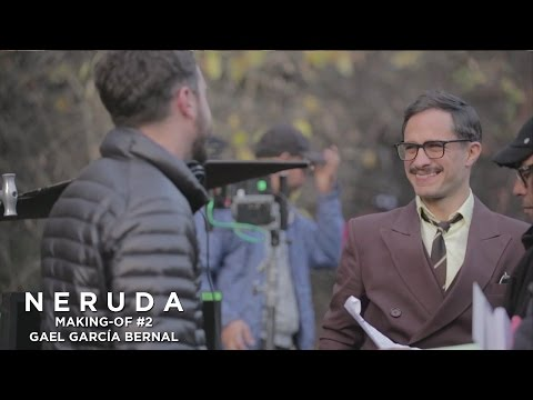 NERUDA - Making-of #2 - Gael Garcia Bernal à propos d'Oscar Peluchonneau