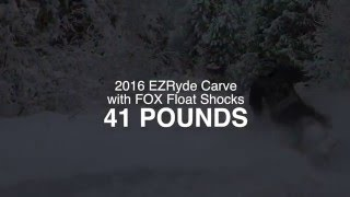 8. EZRyde Carve with FOX Shocks saves weight