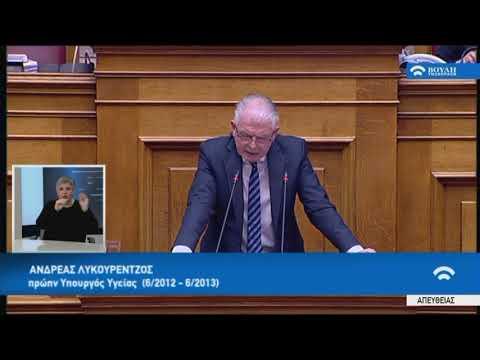 Α.Λυκουρέντζος(Πρώην ΥΠ.Υγείας)(Συζήτηση για τη διενέργεια προκ/κής εξέτασης)(21/02/2018)