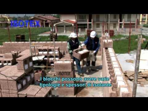 ISOTEX Blocchi e solai in legno cemento - video posa sottotitolato