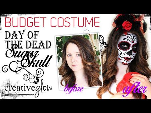 Budget Costume - Day of the Dead Sugar Skull (Calavera)