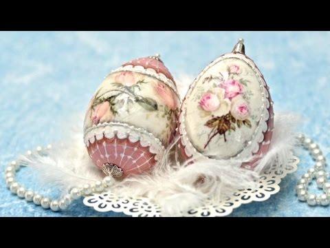 decoupage su uova - fai da te