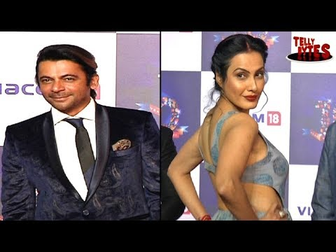 Kamya Punjabi and Sunil Grover at Colors Party