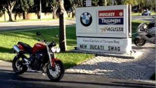 10. 2011 Triumph Street Triple Red Euro Cycles of Tampa