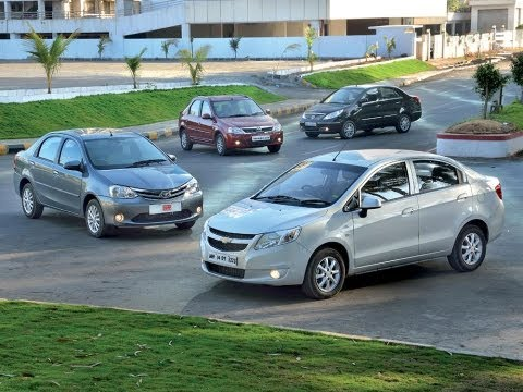 Chevrolet Sail Vs Toyota Etios Vs Tata Manza Vs Mahindra Verito | Comparison Test | Autocar India