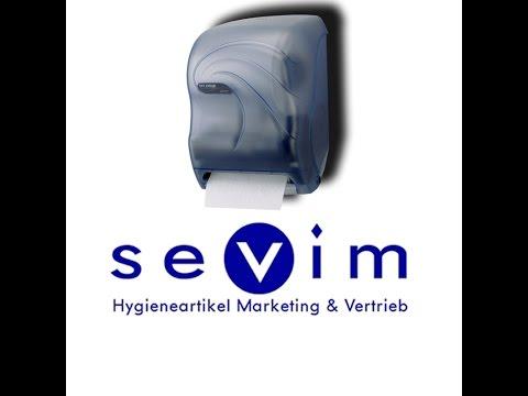 Handtuchrollenspender mit Sensortechnik, Papierspender mit Sensor für Handtuchrollen aller Art