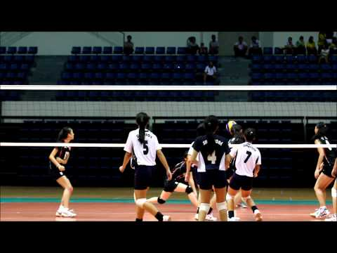 ASIAN School Girls Volleyball Championship - Singapore vs Hong Kong
