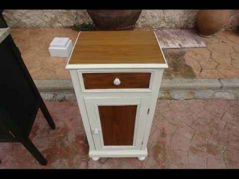 Mesillas de noche vintage videos videos relacionados - Muebles antiguos pintados de blanco ...