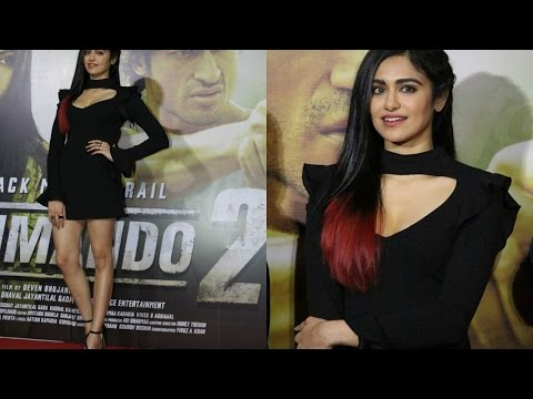 Adah Sharma Spotted In Amazing New Hair Style At Commando 2 Trailer Launch