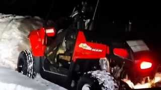 10. 2015 Polaris RZR 170 Moves well in snow!