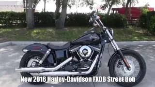 7. 2016 Harley Davidson FXDB Street Bob - New 2017 Street Bob Specs coming soon