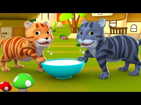 The Monkey And Two Cats 3D Animated Hindi Moral Stories for Kids बंदर और दो बिल्लियों कहानी Tales
