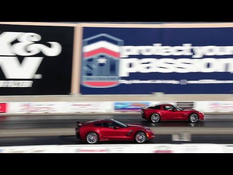 corvette drag race - z06 c7 vs. z06 c6!