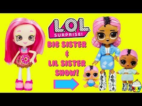LOL Surprise DIY Big Sister Show Jet Set QT Big Sister & Lil Sister Custom Makeover