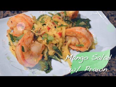 Salad Recipe : Gluten Free Recipe : Mango Salad with Prawn : Food Network Recipe