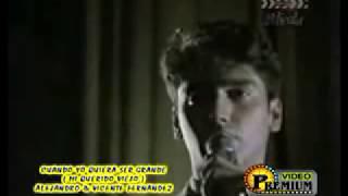 video y letra de Cuando yo quería ser grande  por Vicente Fernandez