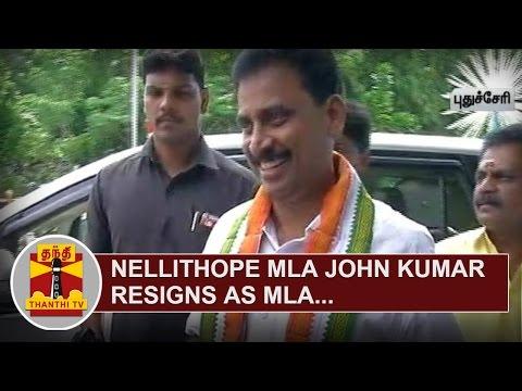 BREAKING--Nellithope-MLA-John-Kumar-resigns-as-MLA-Thanthi-TV
