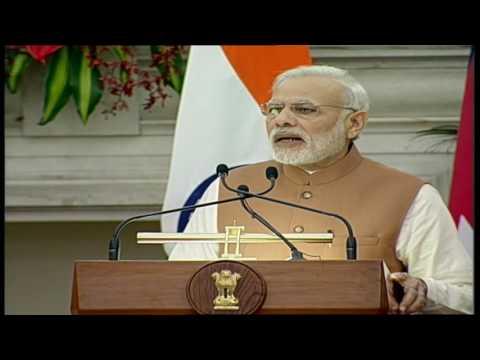 PM Modi's speech at Joint Press Statements with PM of Nepal Mr. Pushpa Kamal Dahal