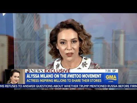 Alyssa Milano Talks About The #MeToo Movement - GMA