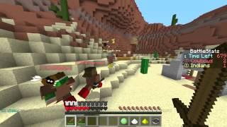 COWBOYS AND INDIANS! Minecraft Mini-Game w/Nooch&Friends!