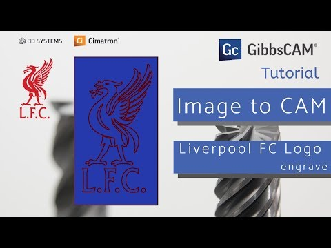 Engrave Logo Liverpool FC (from Image To CADCAM)