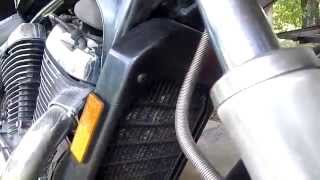 8. Change water coolant/anti-freeze in a motorcycle