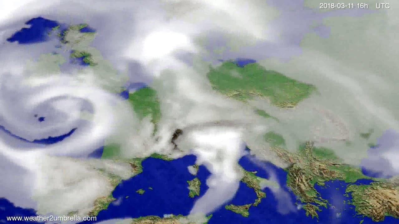 Cloud forecast Europe 2018-03-08
