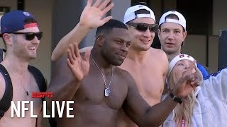 Rob Gronkowski goes shirtless at Patriots' Super Bowl victory parade | NFL Live