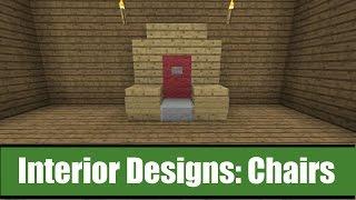 Minecraft Interior Designs: Chair Ideas