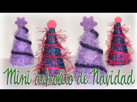 ARBOLITO HECHO CON ROLLITOS DE CARTÓN- LITTLE CHRISTMAS TREE