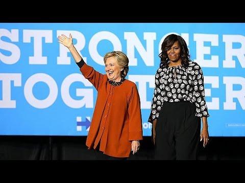 ΗΠΑ: Η Μισέλ Ομπάμα στο πλευρό της Χίλαρι – world