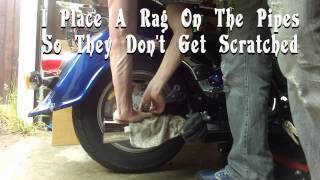 4. How To Change / Remove Rear Tire On A Suzuki Intruder VL1500 and Boulevard C90