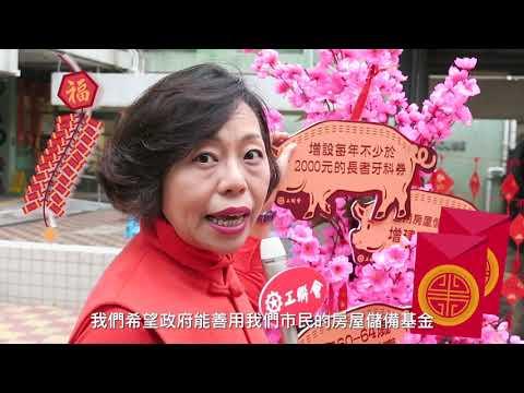工联会港岛花车巡遊 祝愿香港猪年新希望