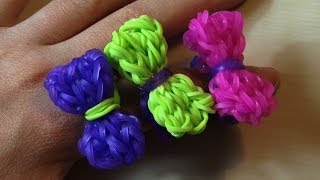 RAINBOW LOOM BOW RING - How to Make - YouTube