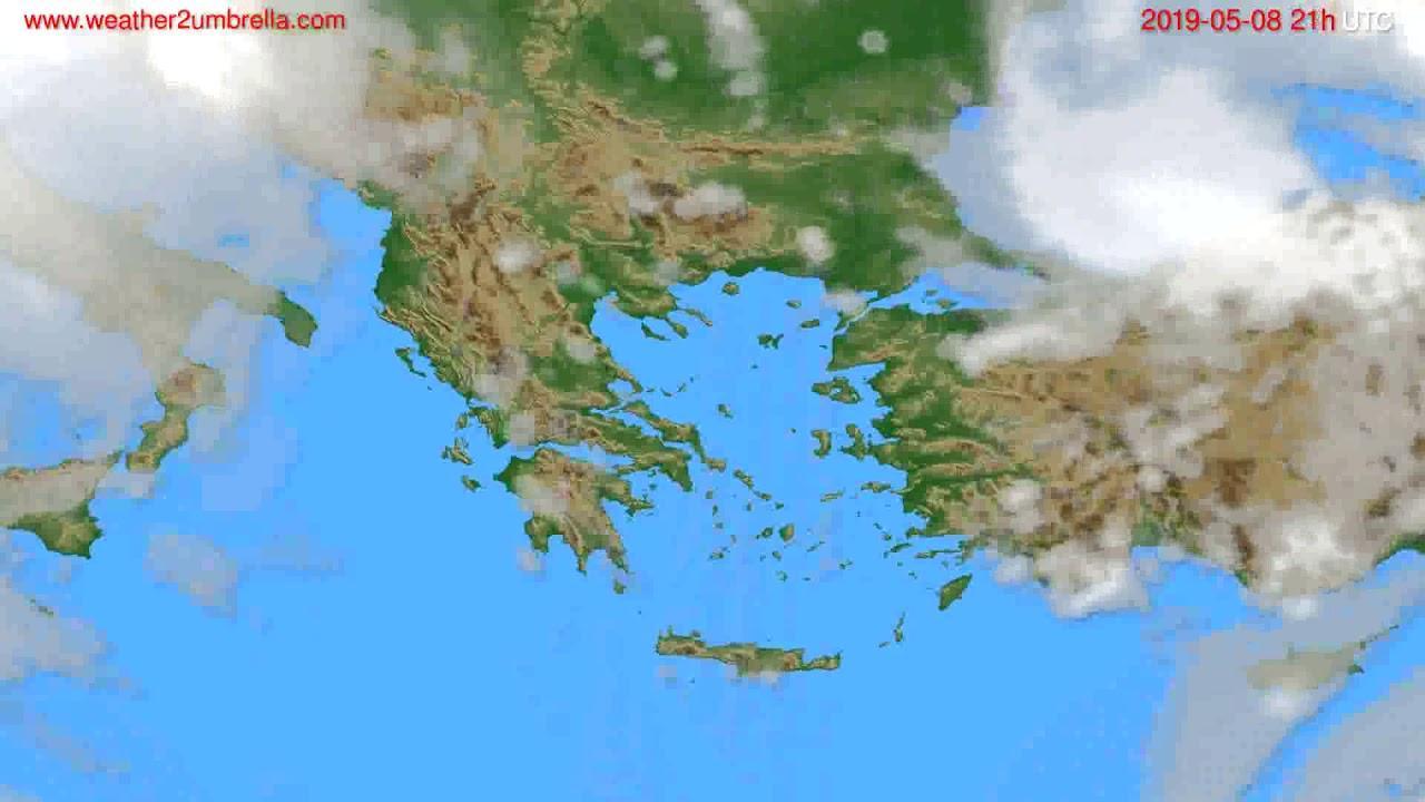Cloud forecast Greece // modelrun: 00h UTC 2019-05-07