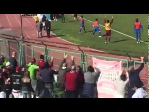 paganese-salernitana 0-1 il gol vittoria dalla curva salernitana