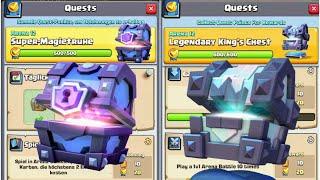 Download Lagu Mega Quest Chest Opening   Super Magical Chest, Legendary Kings Chest   Clash Royale Mp3