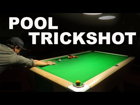 Guy Attempts to Learn a Challenging Pool Trick Shot in One