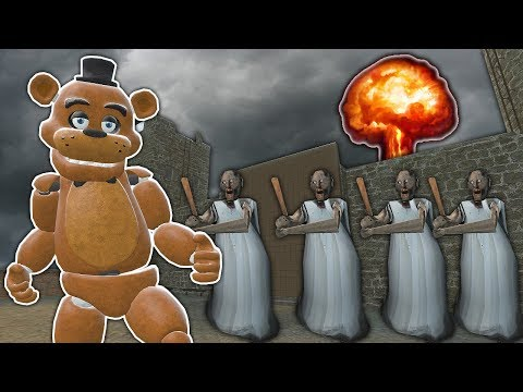 GRANNY ARMY VS NUKE AT CASTLE! - Garry's Mod Sandbox Gameplay - Gmod Multiplayer Granny Survival (видео)