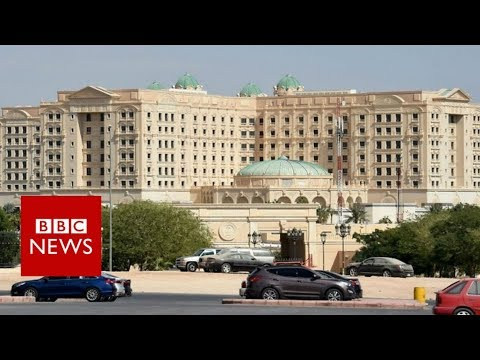 """قناة الـ """"BBC""""  داخل فندق الريتز كارلتون (الذي يُحتَجَزُ فيه الأمراء والمسؤولين)"""