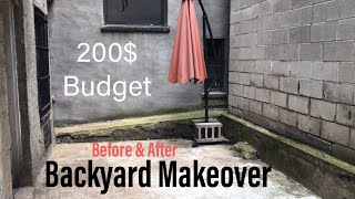 BACKYARD MAKEOVER ON A BUDGET (NYC RENTAL APT)