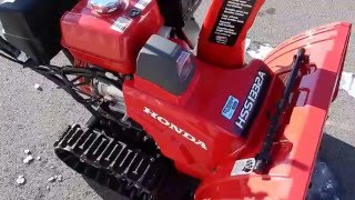 9. 2016 Honda HSS1332ATD Snowblower Overview