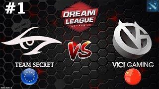 ШЕДЕВРАЛЬНЫЙ МАТЧ! | Secret vs Vici Gaming #1 (BO3) | DreamLeague Season 11