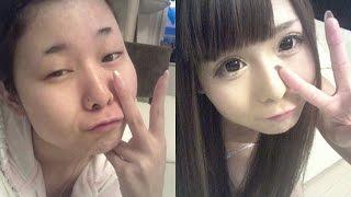18 Chicas Asiáticas Antes Y Después De Maquillarse - YouTube