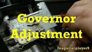 6. How To Adjust Mechanical Governor On Small Engines
