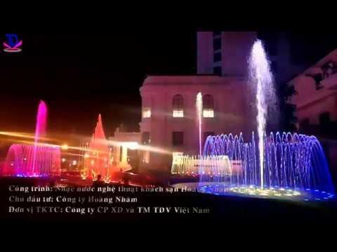 Nhạc nước lập trình phiên bản Tình ca Tây Bắc tại khách sạn Hoàng Nhâm